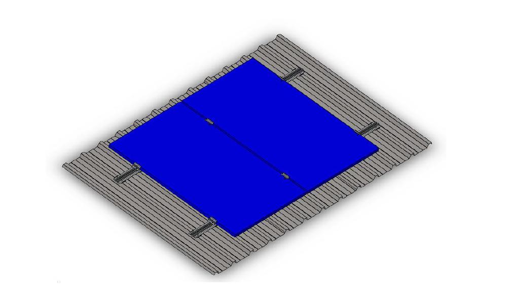Nika-Sustav za montazu na krovove pod kutom prekiven trapeznim limom